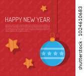 happy new year hand lettering...   Shutterstock .eps vector #1024610683