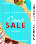 promo flyer for summer sale.... | Shutterstock .eps vector #1024610833
