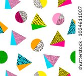 colorful geometric seamless... | Shutterstock .eps vector #1024611007
