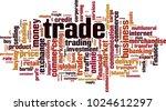 trade word cloud concept.... | Shutterstock .eps vector #1024612297
