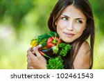 portrait of young beautiful... | Shutterstock . vector #102461543