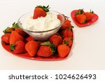 a large heart shaped plate is... | Shutterstock . vector #1024626493