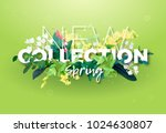 bright spring design of an ad... | Shutterstock .eps vector #1024630807