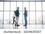two businessmen deep in...   Shutterstock . vector #1024635337