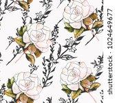 white flower illustration... | Shutterstock . vector #1024649677