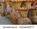 colorful pottery  fine... | Shutterstock . vector #1024649977