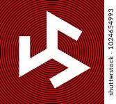 triskelion symbol. ancient.... | Shutterstock .eps vector #1024654993