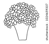 cute cartoon flowers in pot.... | Shutterstock .eps vector #1024659337