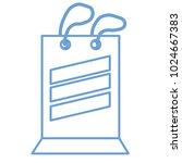 shopping bag icon  | Shutterstock .eps vector #1024667383
