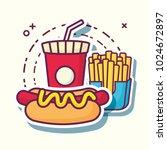 fast food design | Shutterstock .eps vector #1024672897