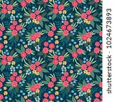 cute floral pattern in the... | Shutterstock .eps vector #1024673893