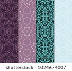 set of 4 vector seamless patern ... | Shutterstock .eps vector #1024674007