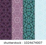set of 4 vector seamless patern ... | Shutterstock .eps vector #1024674007