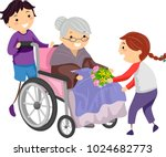 illustration of stickman kids...   Shutterstock .eps vector #1024682773