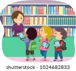 illustration of stickman kids... | Shutterstock .eps vector #1024682833