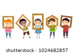 illustration of stickman kids...   Shutterstock .eps vector #1024682857