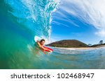 boogie boarder surfing amazing... | Shutterstock . vector #102468947