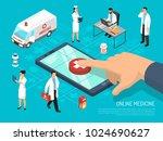 online medical practitioners... | Shutterstock .eps vector #1024690627