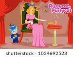 pussycat pussycat  kids english ... | Shutterstock .eps vector #1024692523