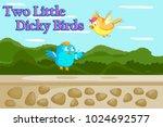 two little dicky birds  kids... | Shutterstock .eps vector #1024692577
