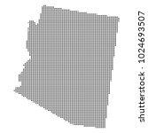 pixel mosaic map of arizona on...