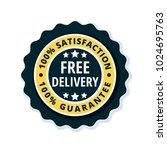 free delivery guarantee label... | Shutterstock .eps vector #1024695763