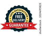 free delivery guarantee label... | Shutterstock .eps vector #1024695823