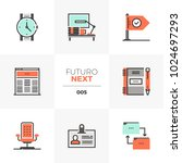 modern flat icons set of... | Shutterstock .eps vector #1024697293