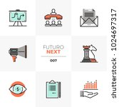 semi flat icons set of market... | Shutterstock .eps vector #1024697317
