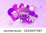 spring sale banner. beautiful... | Shutterstock .eps vector #1024697587