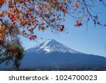 mount fuji on bright clear blue ... | Shutterstock . vector #1024700023