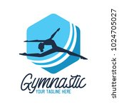gymnastic sport logo with text... | Shutterstock .eps vector #1024705027