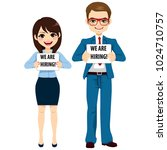 man and woman business people... | Shutterstock .eps vector #1024710757