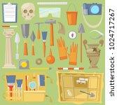 archeology vector...   Shutterstock .eps vector #1024717267