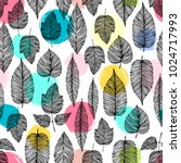 seamless pattern with hand... | Shutterstock .eps vector #1024717993