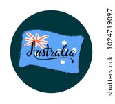 vector lettering country name... | Shutterstock .eps vector #1024719097