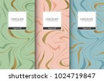 chocolate bar packaging set.... | Shutterstock .eps vector #1024719847