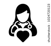 doctor icon vector cardiologist ... | Shutterstock .eps vector #1024720123