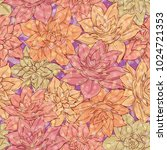 seamless floral background ... | Shutterstock .eps vector #1024721353
