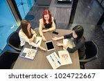 group of business women meeting ... | Shutterstock . vector #1024722667