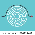 circular maze with entrance and ... | Shutterstock .eps vector #1024724407