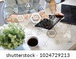 organisation structure chart ...   Shutterstock . vector #1024729213