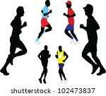 marathon   vector | Shutterstock .eps vector #102473837