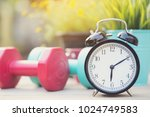 time for exercising clock and... | Shutterstock . vector #1024749583
