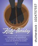 maundy thursday  good or holy...   Shutterstock .eps vector #1024757557