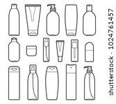set of vector cosmetic bottles... | Shutterstock .eps vector #1024761457