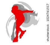 inline skate kid training... | Shutterstock .eps vector #1024761517