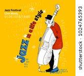 illustration for jazz festival  ... | Shutterstock .eps vector #1024765393