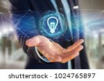 view of bulb lamp idea concept... | Shutterstock . vector #1024765897