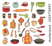 kitchenware vector cookware for ... | Shutterstock .eps vector #1024770997